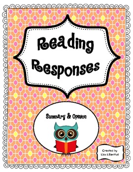 Reading Responses ~ 2nd-5th Grade