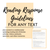 Reading Responses - For any text (distance learning, activ