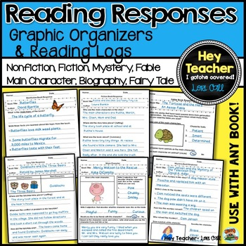 Reading Responses, Reading Logs and Graphic Organizers