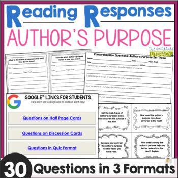 Reading Responses: Author's Purpose