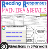 Reading Responses: Main Idea and Details