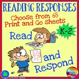 Reading Responses for Books Literacy Activities for Center