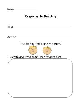 Reading Responses for K