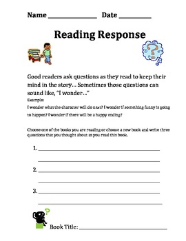 Reading Responses (ready made for homework)