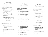 Reading Responsibilities Checklist (bookmark)