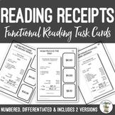 Reading Restaurant Receipts Task Cards