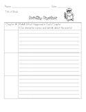 Reading Retelling Organizer (by chapters and pages)