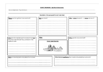Reading Retrieval - Graphic Organisers
