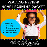 Reading Review - 3 Week Home Learning Packet for 2nd Grade