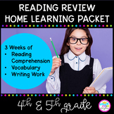 Reading Review - 3 Week Distance Learning Packet for 4th G