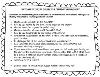 Reading Review Activity