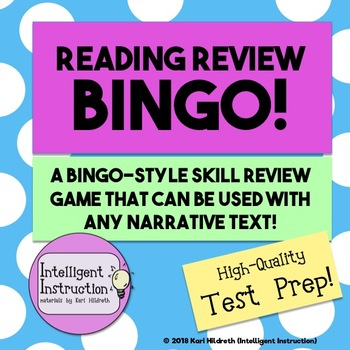 Reading Review Bingo: actually fun test prep! Use with ANY narrative text!