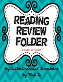 Reading Review Folder-English AND Spanish