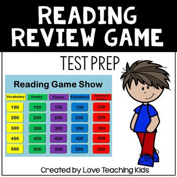 Reading Review Game 3rd 4th Grade Test Prep