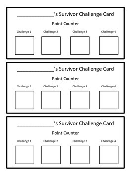 Reading Activity Review Game (Fiction)- Survivor / Minute to Win It Theme