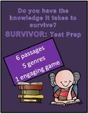 Reading Review Game Survivor Theme 6 Passages Different Genres