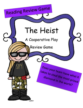 Reading Review Game: The Heist (Cooperative Game Team vs Team)