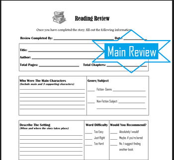 Reading Review Kit- BOOK REPORT