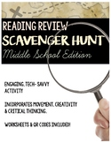 Reading Test Prep: Scavenger Hunt Activity for Middle School