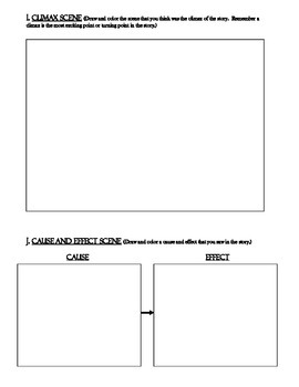 QUICK SUB ACTIVITY-Reading Review Skills Sheets-use with any story
