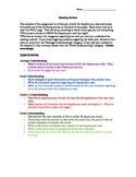 Reading Review for Comprehension for ANY NOVEL
