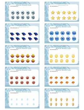Reading Rewards Cards - keep track of reading success
