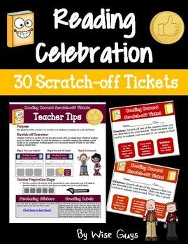 Reading Rewards Scratch-off Tickets