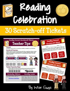 Reading Rewards Scratch-off Tickets