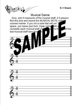 Reading Rhythm Patterns Worksheets