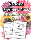 Reading Rhythms Pack - 8 Pages!