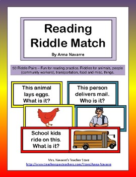 Reading Riddle Match