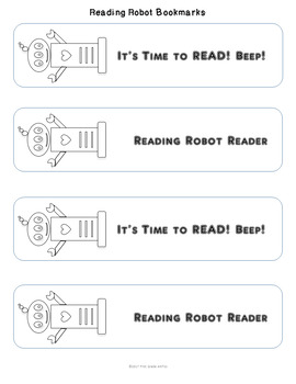 Reading Robot Bookmarks