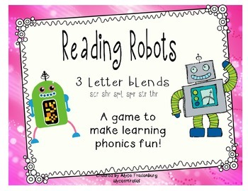Reading Robots 3 letter blends