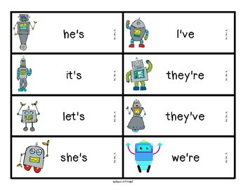 Reading Robots Contractions