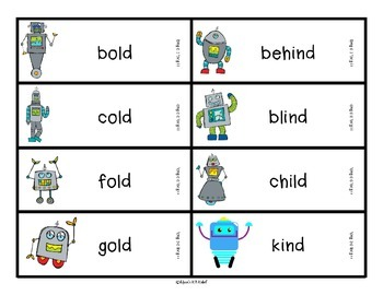 Reading Robots Long o as in bold and long i as in child