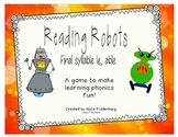 Reading Robots final syllable le and able