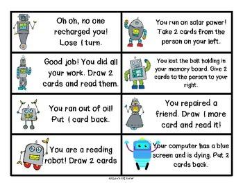 Reading Robots initial blends bl br cl cr dr fl fr gl gr sl sk sm sn sp st sw tr