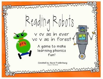 Reading Robots v cv and vc v words