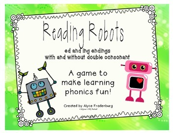 Reading Robots words ending with ed ing
