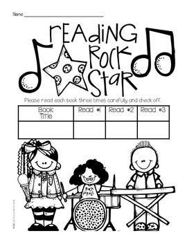 Reading Rock Star Book Logs {freebie}