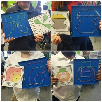 St. Patrick's Day Geoboard Shapes
