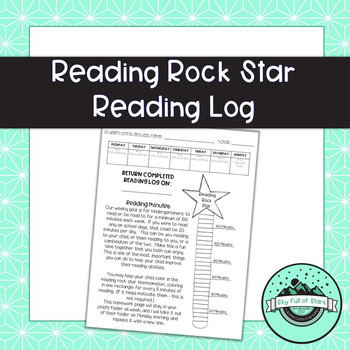 Reading Rock Star Reading Log