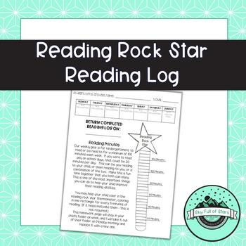 Reading Rock Star Reading Log
