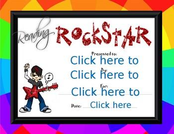 Reading Rock Star boy Award
