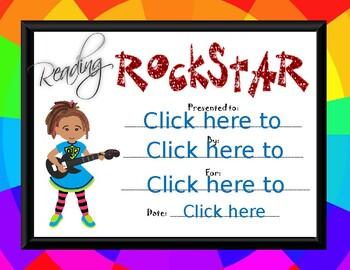 Reading Rock Star girl Award