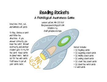 Reading Rockets: A Phonological Awareness Game
