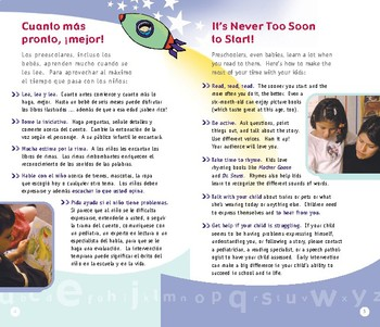 Reading Rockets Family Guide / Letter For Parents in Spanish
