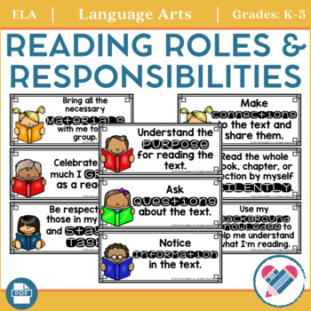 Reading Roles and Responsibilities Poster Set