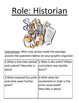 Reading Roles for Artist Biographies: Historian