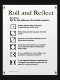 Reading Roll and Reflection Comprehension Activity